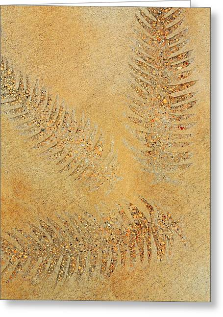 Fossil Art Greeting Cards - Imprints - Abstract Art By Sharon Cummings Greeting Card by Sharon Cummings