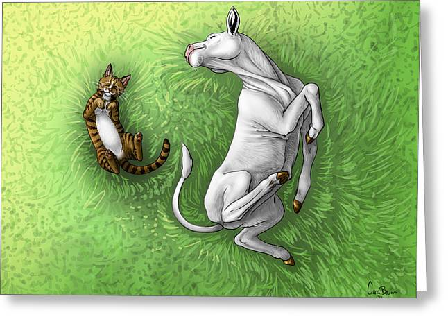 Cartoony Greeting Cards - Improbable-Then Well Play Greeting Card by Cara Bevan