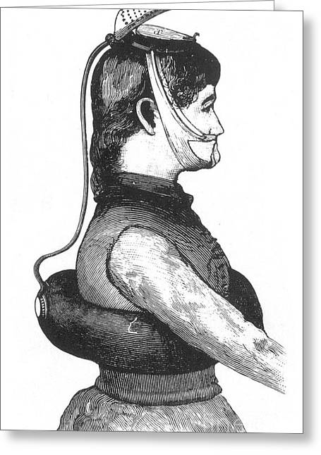 Buoyancy Greeting Cards - Improved Life Preserver, 1886 Greeting Card by Science Source
