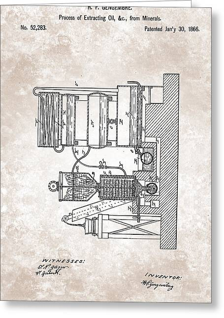 Improving Greeting Cards - Improved process for extracting oils 1866 Greeting Card by Celestial Images