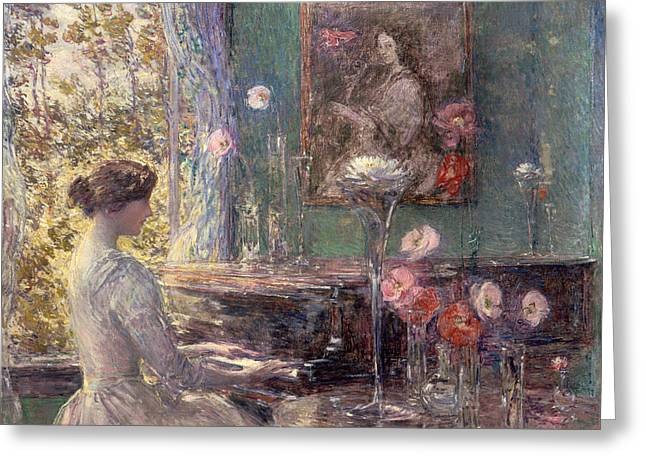 Improvisation Greeting Cards - Improvisation  Greeting Card by Childe Hassam