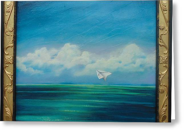 Paper Airplanes Paintings Greeting Cards - In a Brief and Glorious life... Greeting Card by Stacey Heney