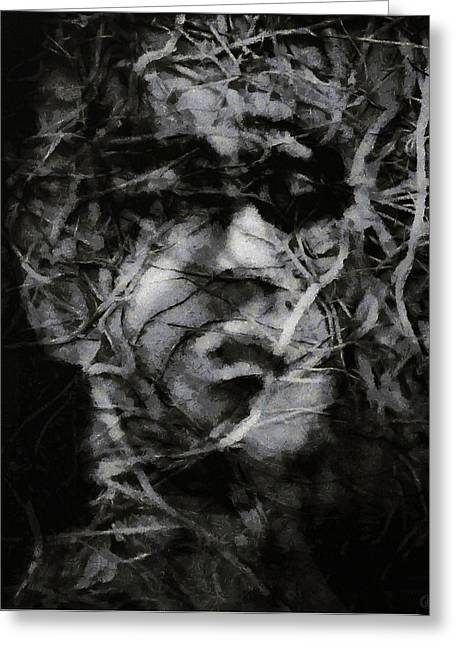 Locked Out Greeting Cards - In a brushwood of thoughts Greeting Card by Gun Legler