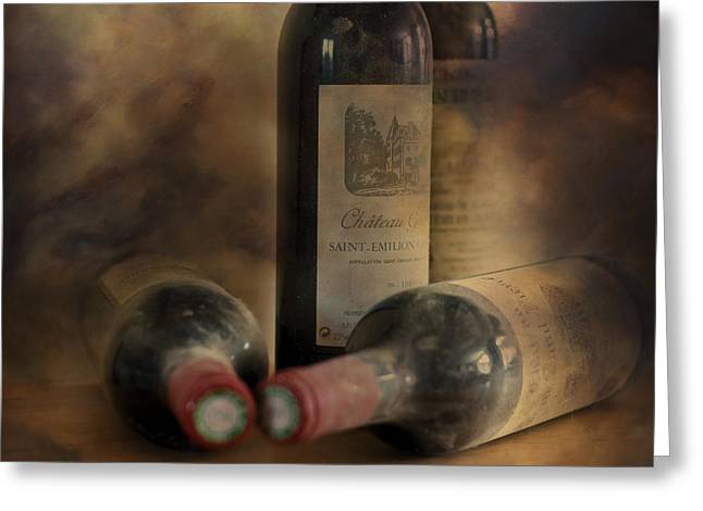 In a Corner of a Wine Cellar Greeting Card by Nomad Art And  Design