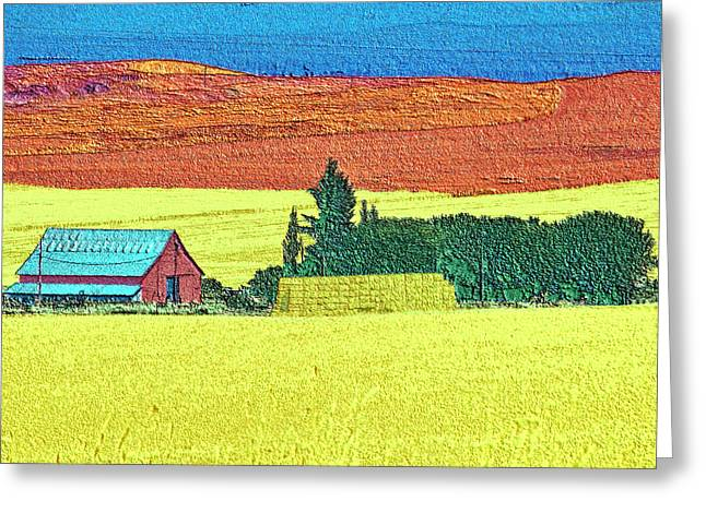 Granja Greeting Cards - In a field of grain Greeting Card by Martin Brockhaus