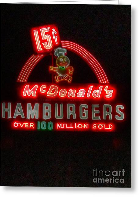 Mcdonalds Restaurant Greeting Cards - In a galaxy far away... Greeting Card by David Bearden