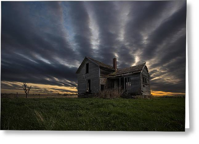 Abandoned Houses Photographs Greeting Cards - In a past life Greeting Card by Aaron J Groen