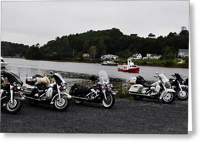 Rally Greeting Cards - In A Row Greeting Card by Daryl Macintyre