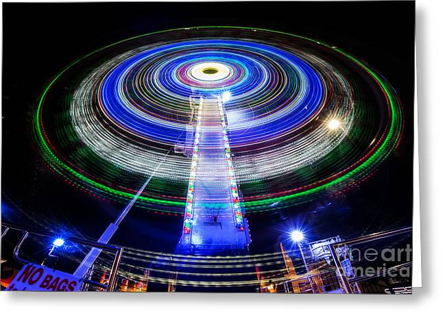 Rotate Greeting Cards - In a Spin Greeting Card by Ray Warren