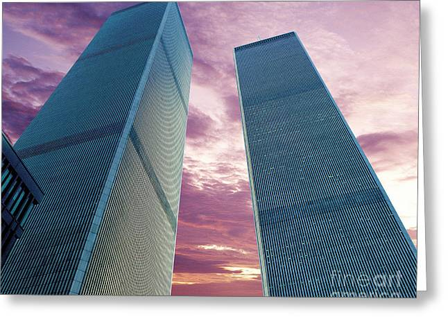 Wtc Center Greeting Cards - In All Her Glory Greeting Card by Jon Neidert