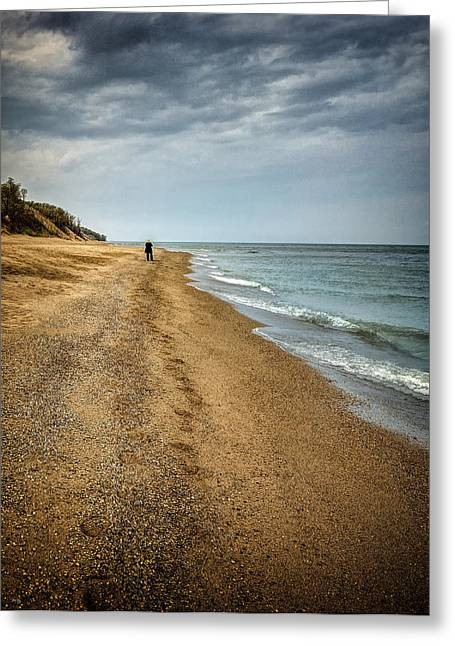 Indiana Dunes Greeting Cards - In All Things You Do Consider the End Greeting Card by Jeff Burton