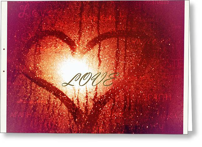 Heartfelt Greeting Cards - In any language the emotion is the same Greeting Card by Linda Lees