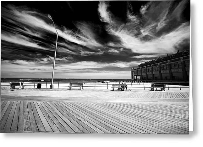 Art In America Greeting Cards - In Asbury Greeting Card by John Rizzuto
