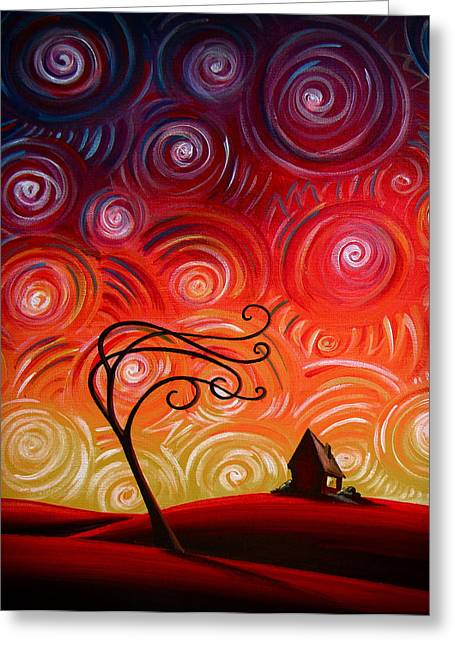 Windy Paintings Greeting Cards - In Between Greeting Card by Cindy Thornton