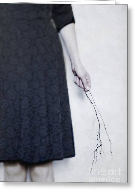Little Black Dress Greeting Cards - In Black Greeting Card by Margie Hurwich