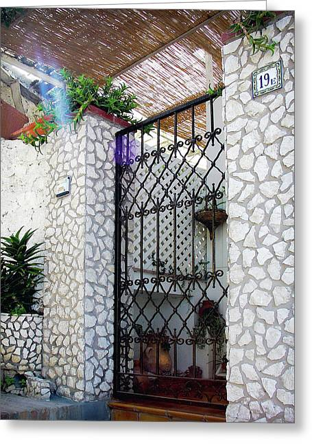 Southern Italy Greeting Cards - In Capri Greeting Card by Julie Palencia