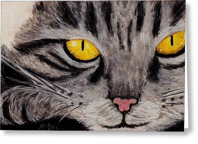 Shiny Pastels Greeting Cards - In Cats Eyes Greeting Card by Anastasiya Malakhova