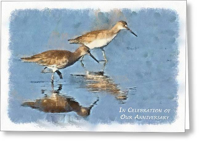 Wildlife Celebration Greeting Cards - In Celebration of Our Anniversary Greeting Card by Dawn Currie