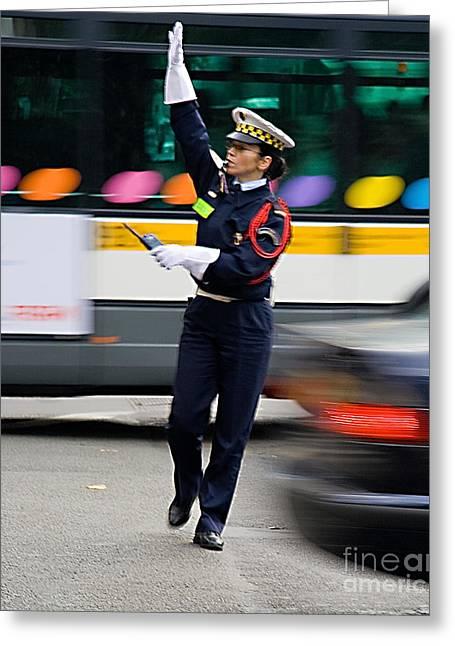 Traffic Control Digital Art Greeting Cards - In Control Greeting Card by Paul Eggermann