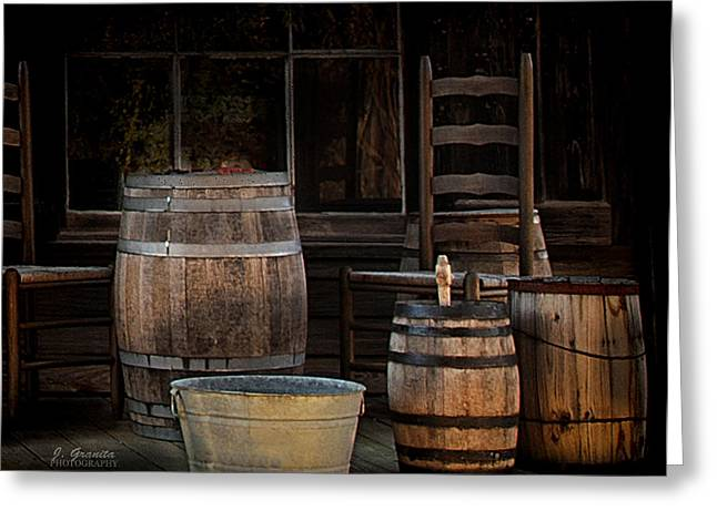 Washtubs Greeting Cards - In Days Gone By Greeting Card by Joe Granita