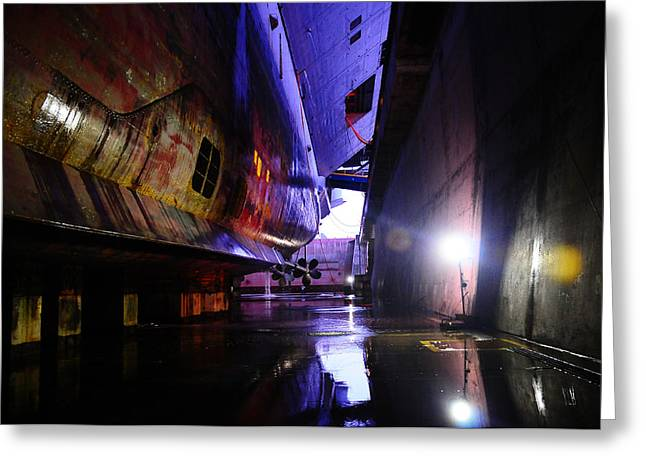 Carrier Greeting Cards - In Dry Dock Greeting Card by Mountain Dreams