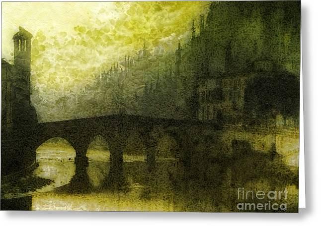 In Fair Verona Greeting Card by Mo T