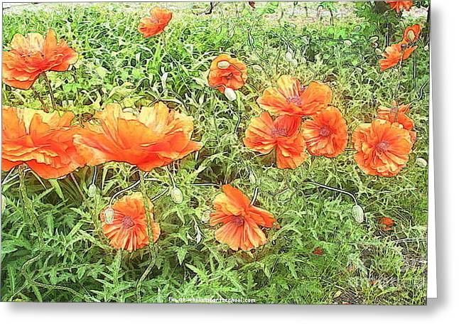In Flanders Fields The Poppies Grow Greeting Card by PainterArtist FIN