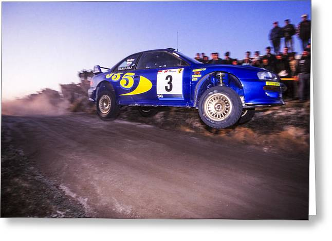 Wrc Greeting Cards - In Flight Greeting Card by Jose Bispo