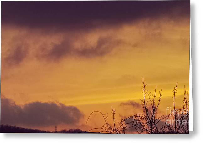Fine Art Prints Greeting Cards - Sunset Landscape Greeting Card by Charlie Cliques