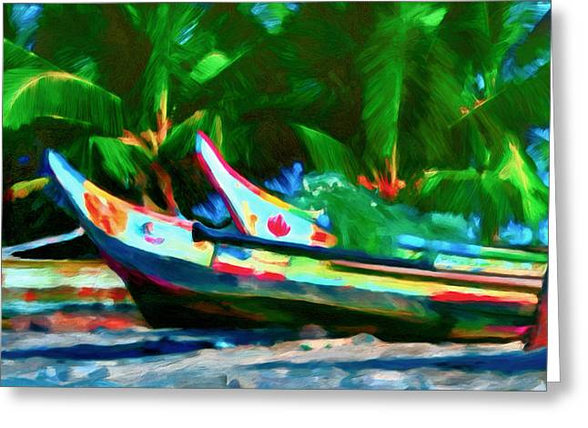Canoe Paintings Greeting Cards - In for the Day Greeting Card by Michael Pickett