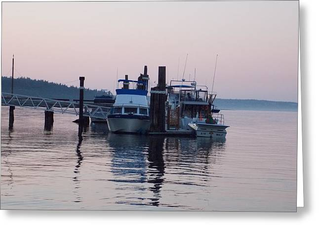 Boats At Dock Greeting Cards - In for the Day Greeting Card by Patti Walden