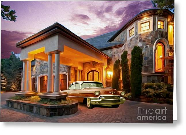 Caddy Greeting Cards - In for the Evening Greeting Card by Jon Neidert
