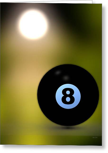 Eightball Greeting Cards - In Front of the eight ball Greeting Card by Bob Orsillo