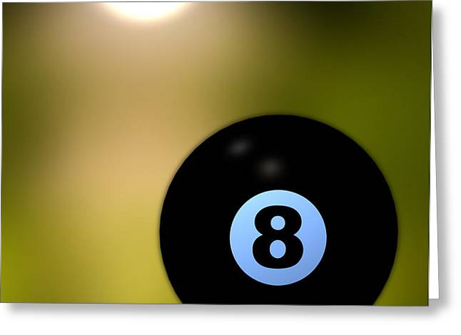 In Front of the eight ball Greeting Card by Bob Orsillo