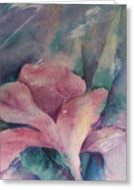 Emergence Paintings Greeting Cards - In Full Bloom Greeting Card by  Sharon Ackley