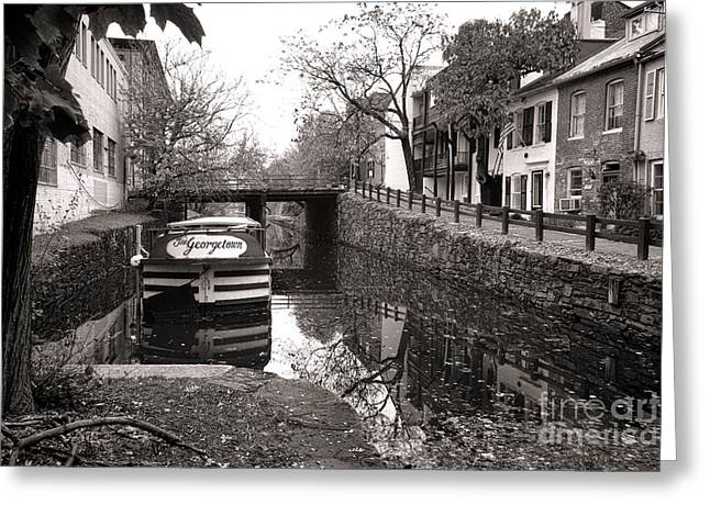 Barge Greeting Cards - In Georgetown Greeting Card by Olivier Le Queinec