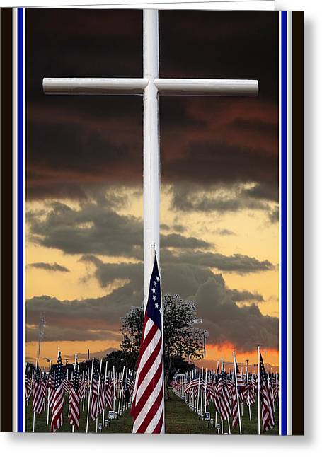 Flag Of Usa Greeting Cards - In God We Trust Greeting Card by Ella Kaye Dickey