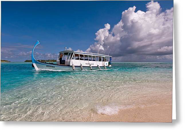 Best Ocean Photography Greeting Cards - In Harmony with Nature. Maldives Greeting Card by Jenny Rainbow