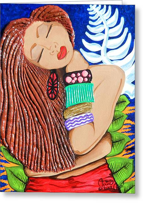 Spirit Reliefs Greeting Cards - In Him Complete Trust Greeting Card by Ohso