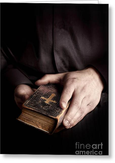 In His Hands Greeting Card by Margie Hurwich