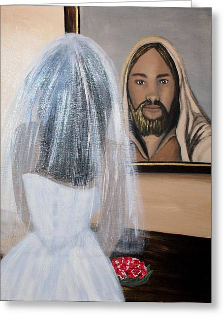 Betrothed Greeting Cards - In HIS Image Greeting Card by Pamorama Jones