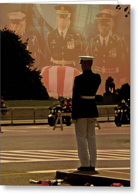 Rally Greeting Cards - In Honor Of Our Fallen Heroes Greeting Card by Tom Gari Gallery-Three-Photography