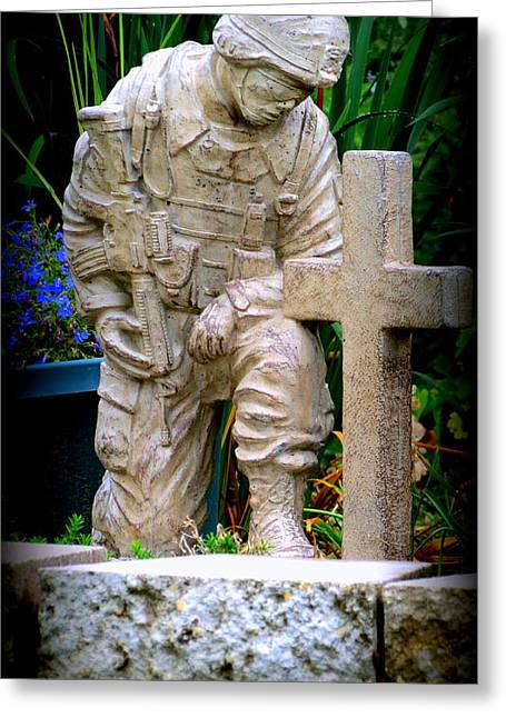 Empower Greeting Cards - In Honor Of The Wounded Warrior Greeting Card by Kay Novy
