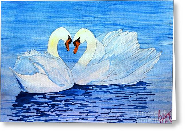 Animals Love Greeting Cards - In love Greeting Card by Sarabjit Kaur