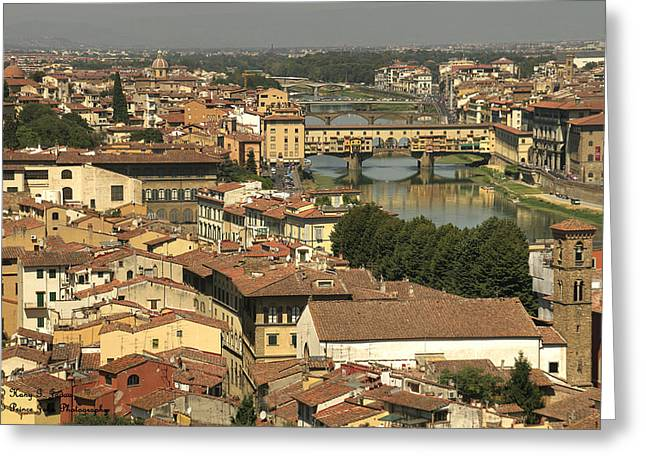 Firenza Greeting Cards - In Love With Firenze - 1 Greeting Card by Hany Jadaa  Prince John Photography