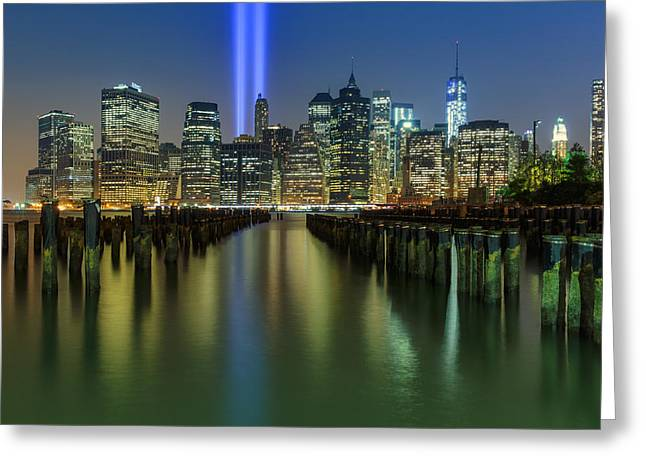 9-11 Greeting Cards - In Memoriam Greeting Card by Rick Berk