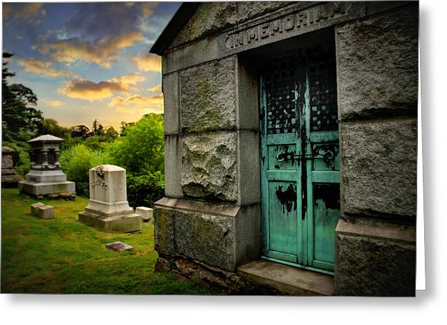 Mausoleum Greeting Cards - In Memorium Greeting Card by Jessica Jenney