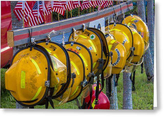 In Memory of 19 Brave Firefighters  Greeting Card by Rene Triay Photography