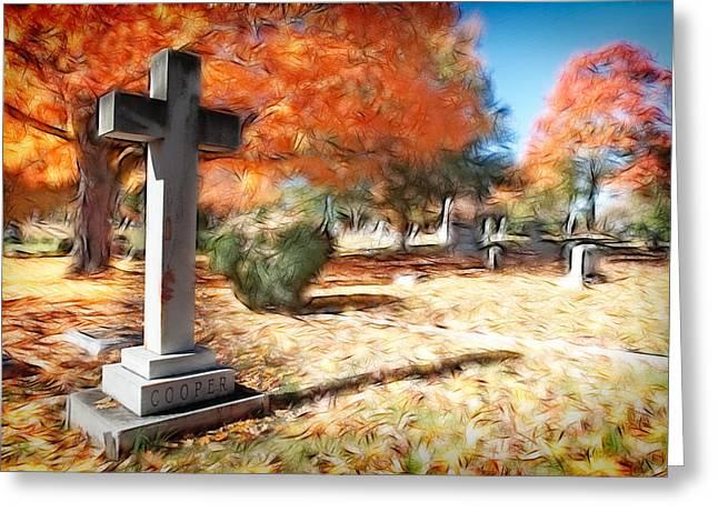Dan Carmichael Digital Art Greeting Cards - In Memory of Cooper I Greeting Card by Dan Carmichael