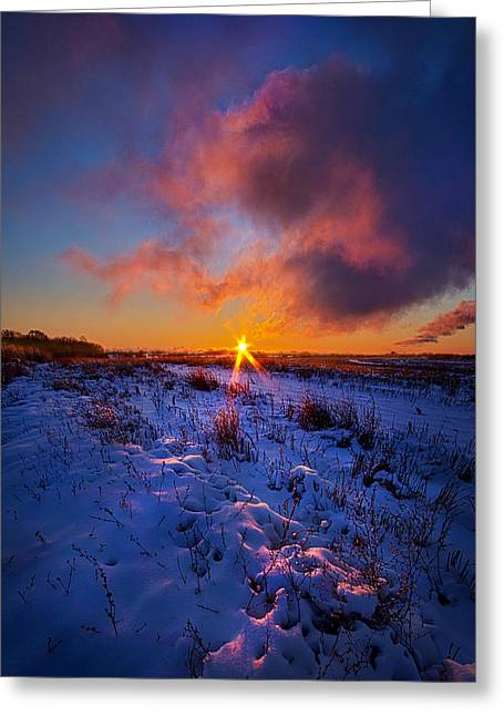 Frozen Photographs Greeting Cards - In Memory Of Greeting Card by Phil Koch